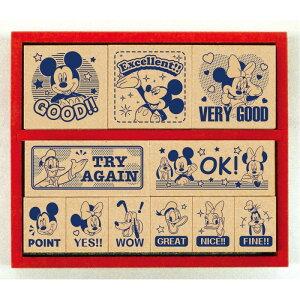 ビバリー ディズニー スタンプ はんこ ミッキーマウス 木製ごほうびスタンプ ENGLISH SDH-078