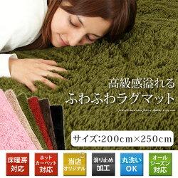 センターラグ・絨毯・絨緞・じゅうたん・6畳部屋・8畳・グリーン・春用・夏用・秋用・冬用・ラグ