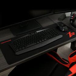 マウスパッド・ゲーミング・レーザー式・光学式・ボール式・対応・キーボードマット・デスクマット・PC・周辺機器・ブラック・おしゃれ