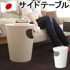 サイドテーブル ゴミ箱 日本製 ソファーサイドテーブル ベッドサイドテーブル ローテーブル テーブル 机 ダストボックス ごみ 袋 見えない ふた付き 収納 ホワイト ベージュ おしゃれ 送料無料