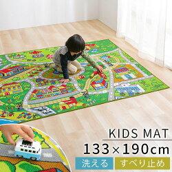 プレイマット・子供部屋・マット・撥水加工・防汚加工・ロードマップ・キッズ・子ども部屋・おもちゃ