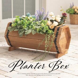 起种植者箱蔬菜菜园花盆园艺用品花园家具院子阳台花盆室外园艺花,花的台阶花坛家庭菜园木材花台灯宽大的桶木制漂亮