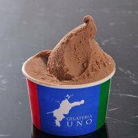 香りがあり、美味しいジェラテリアUNOのジャンドゥイヤジェラートアイスクリーム