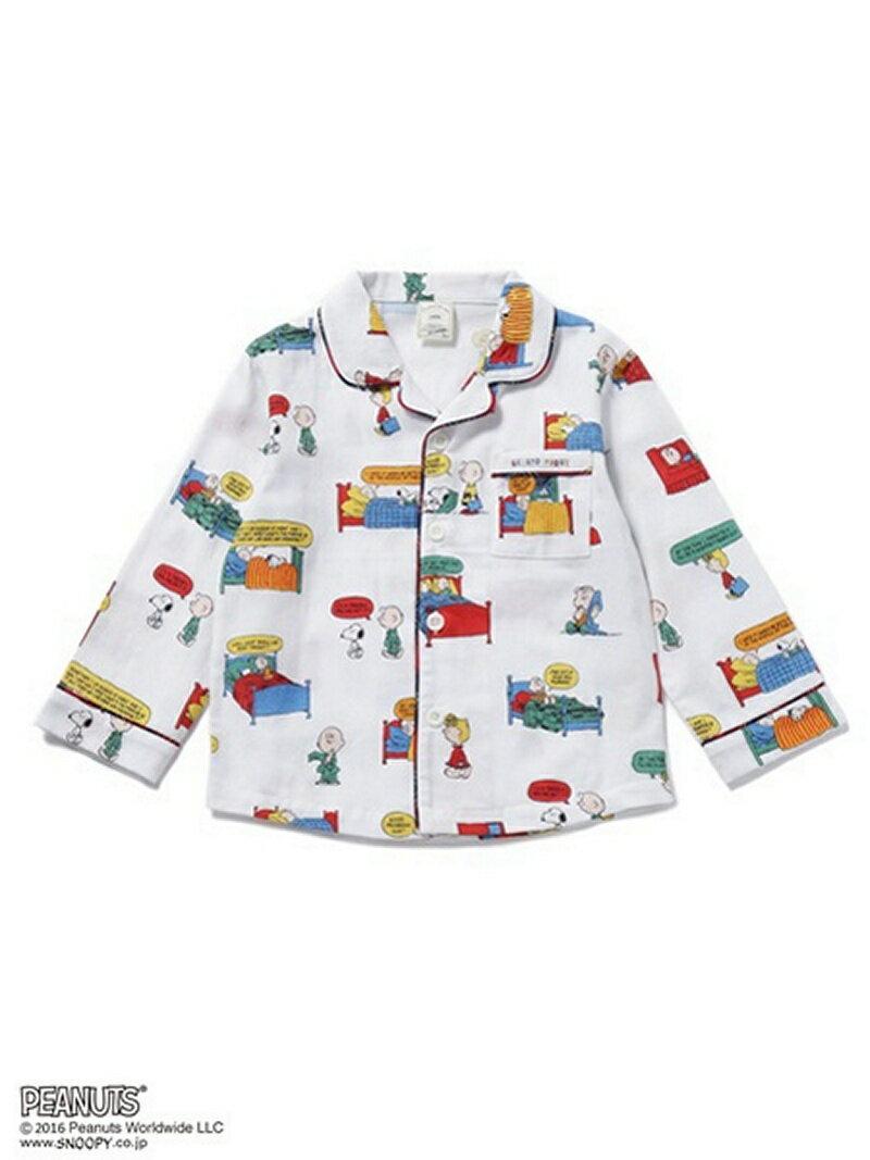gelato pique kids & baby [SNOOPY]KIDSネルシャツ/ルームウェア/スヌーピー ジェラートピケ【送料無料】