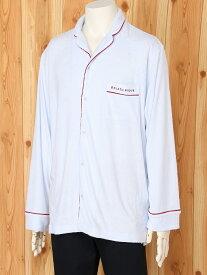 [Rakuten Fashion][HOMME]ミニパイルパジャマシャツ gelato pique ジェラートピケ インナー/ナイトウェア ルームウェア/トップス ブルー グレー【送料無料】