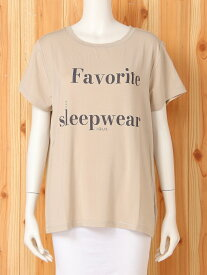 [Rakuten Fashion]FavoriteロゴTシャツ gelato pique ジェラートピケ インナー/ナイトウェア ルームウェア/トップス ベージュ グレー【送料無料】