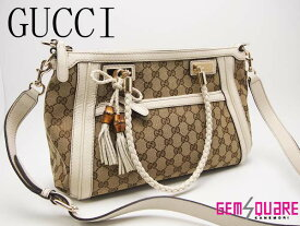 631a11a10ae6 中古 【282300】GUCCI バンブータッセル付 グッチ 2WAYトートバッグ【中古】【質屋出店】【送料無料】