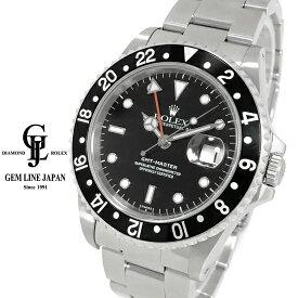 【中古】ロレックス GMTマスター 16700 U番 黒文字盤 メンズ 自動巻き 腕時計
