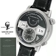 【中古】ギャラ付A.ランゲ&ゾーネツァイトヴェルクストライキングタイム145.029WG/革メンズ手巻腕時計