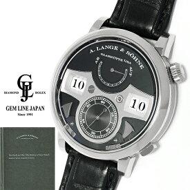 【中古】ギャラ付 A.ランゲ&ゾーネ ツァイトヴェルク ストライキングタイム 145.029 WG/革 メンズ 手巻 腕時計