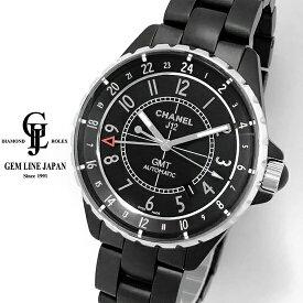 【中古】美品 シャネル J12 GMT H3101 マットブラックセラミック メンズ 自動巻き 腕時計