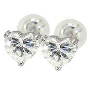 【新品】GカラーSI1クラスHカラーSI2クラスハートシェイプカット一粒ダイヤモンド0.703ctスタッドタイプPt900ピアス