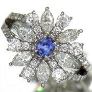 幻の希少石ベニトアイト0.28ct上質ダイヤモンド1.52ctプラチナリング【新品】