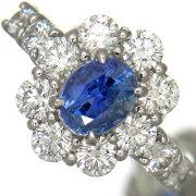 【新品】無処理カシミール産サファイア1.37ct指輪レディース上質ダイヤ1.70ctプラチナリング【稀少石】