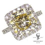 【新品】5.292ctライトイエローダイヤ指輪プラチナダイヤモンドリング他0.69ctレディース