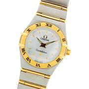 オメガコンステレーションコンビSS/YGイエローゴールド/ステンレススチール製ホワイトシェル文字盤クォーツレディース腕時計【中古】