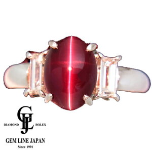 【新品】アレキサンドライト・キャッツアイ3.872ct 指輪 プラチナ ダイヤ0.87ct【稀少石】