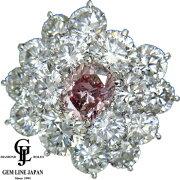 【新品】ファンシーピンクダイヤモンド0.85ctプラチナリングFANCYPINK-I1-オーバルカット取り巻きダイヤ5.018ctPt900