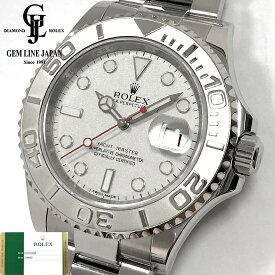 【中古】生産終了最終モデル ギャラ付 ロレックス ヨットマスター ロレジウム116622 鏡面バックル ランダム Pt/SS メンズ 腕時計
