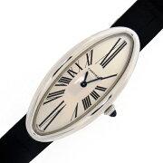 【CARTIER】カルティエ「ベニュワールアロンジェ】2604モデルK18WGクォーツレディース腕時計【c3584】