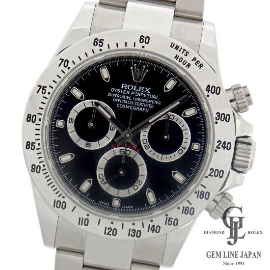 【中古】美品 鏡面クラスプ 黒文字盤 116520 ロレックス デイトナ ランダム ルーレット刻印有 自動巻き メンズ 腕時計