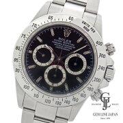 【中古】ロレックスデイトナ16520A番ブラックSSクロノグラフ自動巻きメンズ腕時計ギャラ付