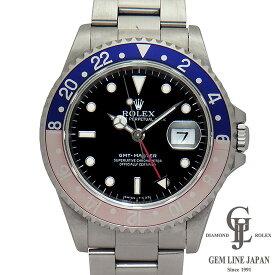 【中古】ロレックス GMTマスター 16700 U番 トリチウム 赤青ベゼル ステンレス 黒文字盤 自動巻き メンズ 腕時計【オーバーホール済み】【未仕上げ】