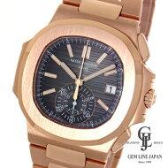 【美品】パテック・フィリップノーチラスクロノグラフ5980/1R-001ローズゴールドRG金無垢ブラック・グラデーション自動巻きメンズ腕時計【中古】