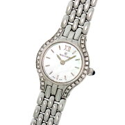 【WALTHAM】ウォルサムK18ホワイトゴールド無垢WS78シェル文字盤ベゼルダイヤクォーツレディース腕時計