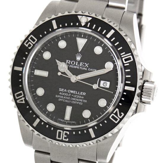 未仕上げ【ROLEX】ロレックス シードゥエラー4000 116600 黒文字盤 SS ランダム ルーレット 自動巻き メンズ 腕時計【中古】