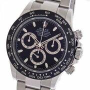 【中古】ロレックスコスモグラフデイトナ116500LNブラックランダムステンレス/セラミッククロノグラフ自動巻きメンズ腕時計