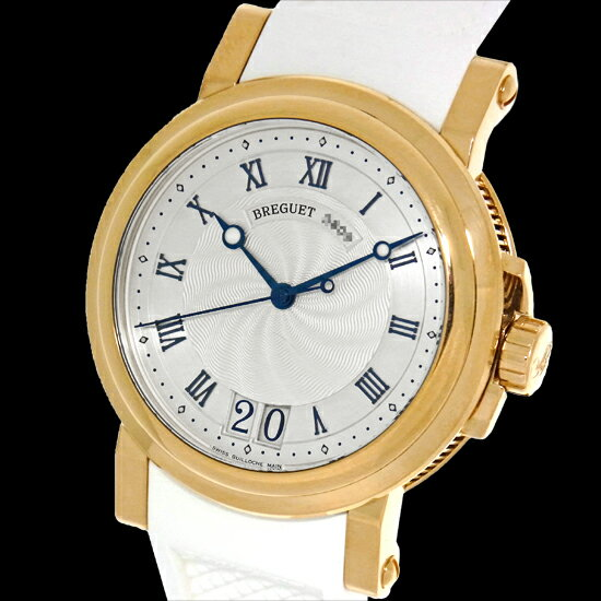 【BREGUET】ブレゲ マリーンIIラージデイト5817BA129V8メンズK18YG無垢 シースルーバック 自動巻き 腕時計 ベルト交換済【中古】