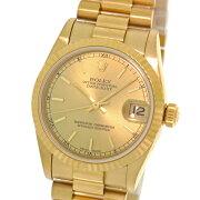 【ROLEX】ロレックスデイトジャスト78278シャンパンバーYGA番自動巻きボーイズ腕時計【中古】
