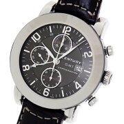 【CENTURY】センチュリーエレガンスクロノグラフGMTダークブラウン648.7.D.75i.12.15D.CXMメンズ腕時計【中古】