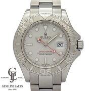 【中古】ロレックスメンズヨットマスターロレジウム16622P番40mmプラチナ文字盤PT/SS自動巻き腕時計