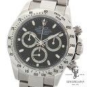 【中古】【美品】ギャラ付き ロレックス デイトナ 116520 ブラック ステンレス D番 クロノグラフ 自動巻き メンズ 腕時計