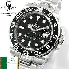 【中古】国内正規未使用品 2019年4月ギャラ/一部保護シール付 ロレックス GMTマスターII 116710LN ランダム ルーレット刻印 腕時計