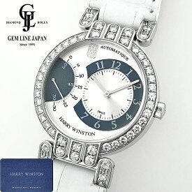 【中古】ギャラ付 ハリーウィンストン プルミエール エキセンター 200-MASR37W ダイヤベゼル K18WG無垢 メンズ 自動巻 腕時計