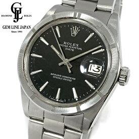 【中古】アンティーク ロレックス オイスター パーペチュアル デイト 1501 ミラーダイヤル SS 自動巻き 腕時計