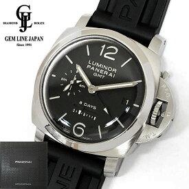5a9dc08fa3 中古 【中古】ギャラ付 パネライ ルミノール 1950 8DAYS GMT PAM00233 S番 メンズ 手巻 腕時計