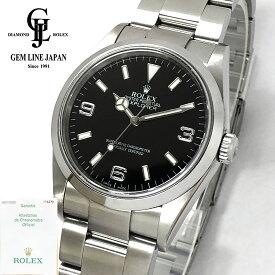 【中古】ギャラ付 OH済 ロレックス エクスプローラー 114270 D番 メンズ 自動巻 腕時計