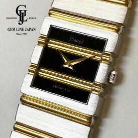 【中古】金無垢 ピアジェ ポロ 8131C701 YG/WG レディース (ボーイズ) 40mm クォーツ 腕時計