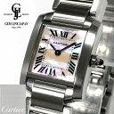【中古】ギャラ付 カルティエ タンク フランセーズ SM W51028Q3 ピンクシェル レディース クォーツ 腕時計