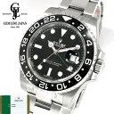 【新品】ギャラ/保護シール付 ロレックス GMTマスターII 116710LN ランダム番 ルーレット刻印 黒/黒 メンズ 腕時計 並…