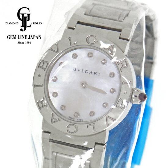 【中古】ブルガリ ブルガリ BBL26WSS/12 シェル文字盤12Pダイヤ レディース クォーツ 腕時計