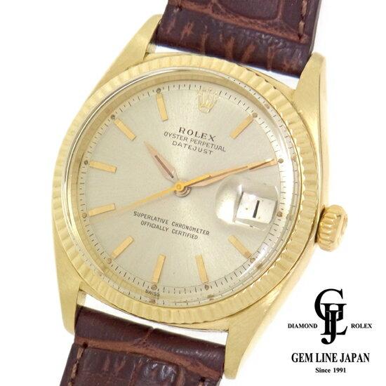 【中古】アンティーク ロレックス デイトジャスト1601 K14無垢 自動巻き メンズ 腕時計