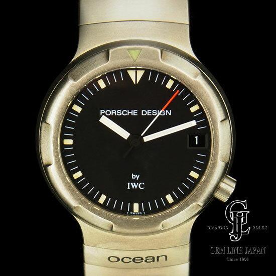 【中古】ポルシェ・デザイン by IWC メンズ オーシャン500 チタン製 34mm 黒文字盤 自動巻き 腕時計