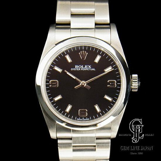 【A+ランク】ロレックス ボーイズ オイスター パーペチュアル 77080 ブラック 369 自動巻き ユニセックス腕時計【中古】