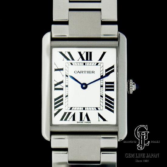 【中古】カルティエ 時計 メンズ タンク ソロ LM W5200014 クォーツ SS 男性用腕時計