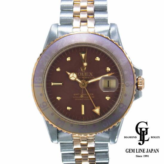 【中古】ロレックス GMTマスター 1675 ブラウン フジツボ アンティーク メンズ 腕時計